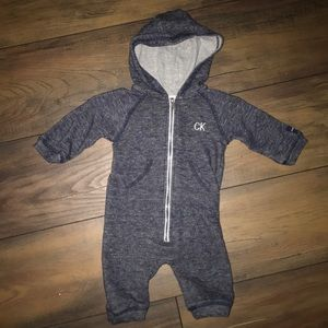 Little boys Calvin Klein Jeans zip-up jumper!